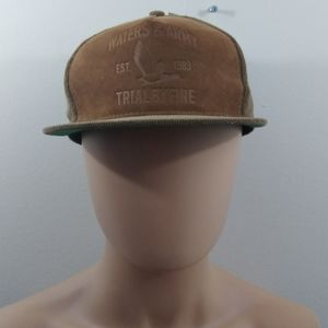 Waters army adjustable brown courderoy hat